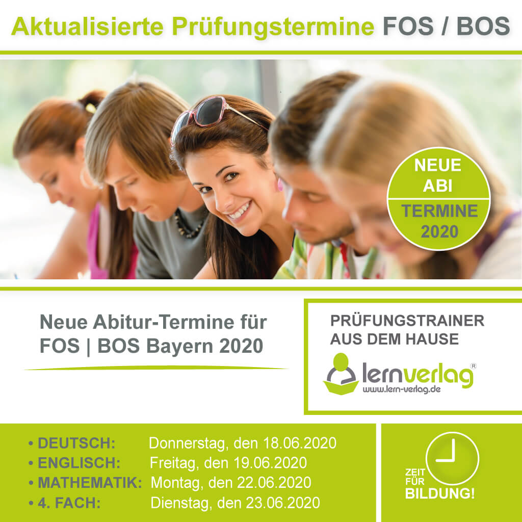 Aktualisierte Prüfungstermine FOS BOS Bayern 2020