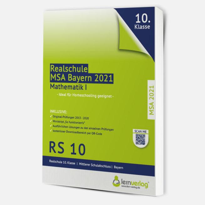 MSA 2021 Realschule Bayern Mathe I