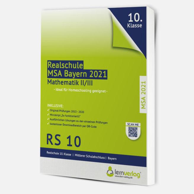 MSA 2021 Realschule Bayern Mathe II