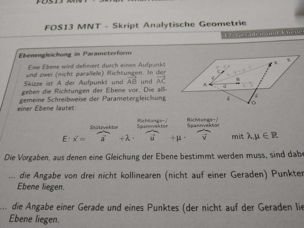 Ebenengleichung FOS 13 lern.de