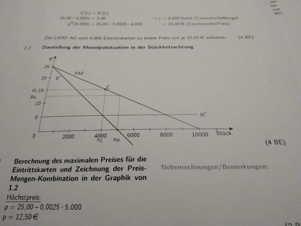 Preis-Absatz-Funktion FOS 13 IBV bei lern.de