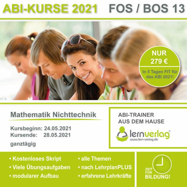ABI 2021 FOS 13 Mathe Nichttechnik
