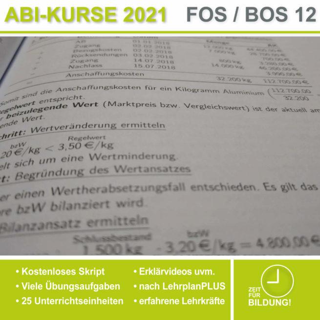 Abi 2021 FOS 12 BwR | IBV Bewertung von Vorräten lern.de