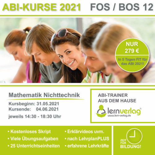 ABI 2021 FOS 12 Mathe Nichttechnik KURS 4
