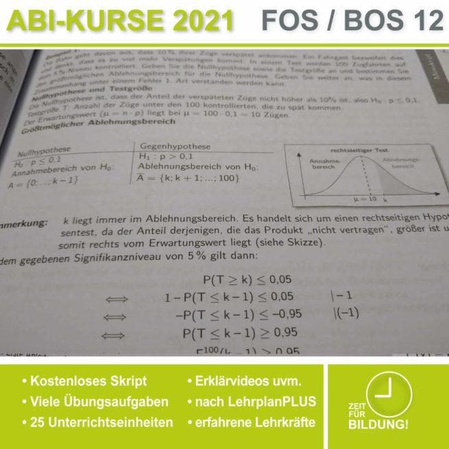 Abi 2021 FOS 12 Mathe Hypothesentest