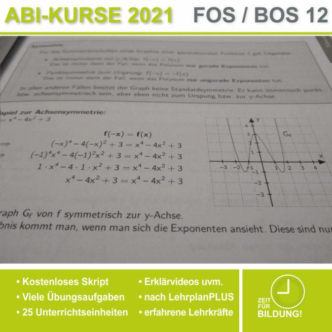 Abi 2021 FOS 12 Mathe Symmetrieverhalten