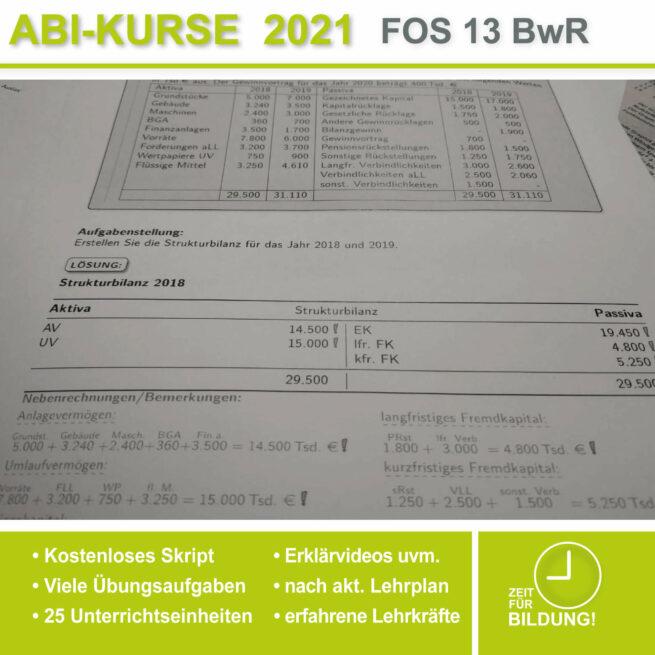 Abi-Vorbereitung 2021 FOS 13 BwR Strukturbilanz bei lern.de