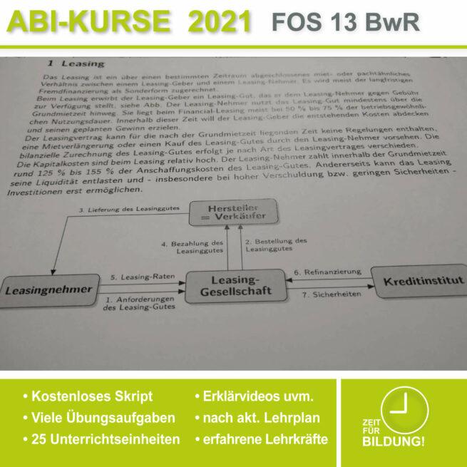 Abi-Vorbereitung 2021 FOS 13 BwR Leasing bei lern.de