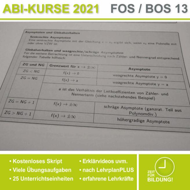 Abi 2021 FOS 13 Mathe Asymptoten