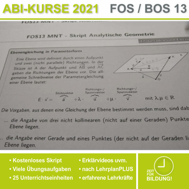 Abi 2021 FOS 13 Mathe Ebenengleichungen