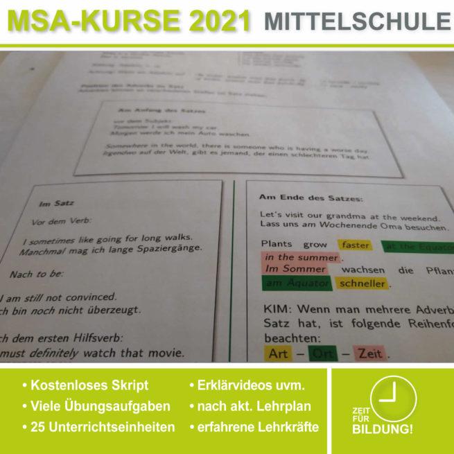 Mittelschule Englisch Adverbien lern.de