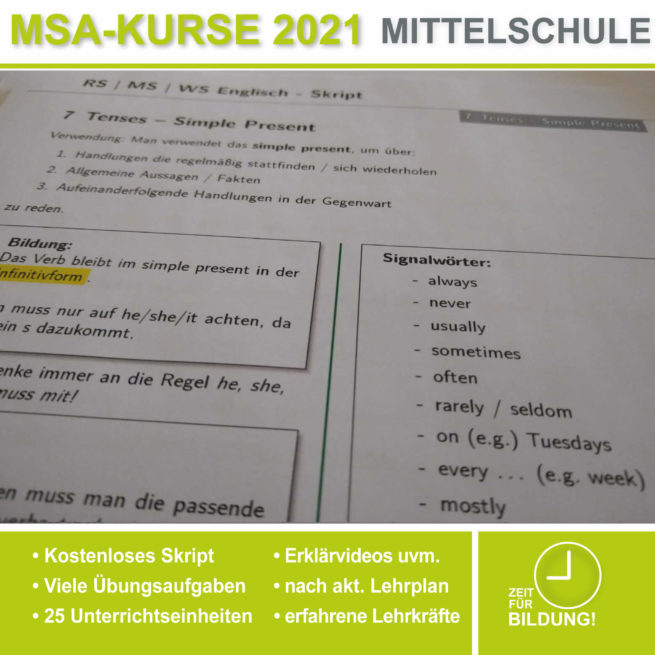 Mittelschule Englisch Tenses lern.de