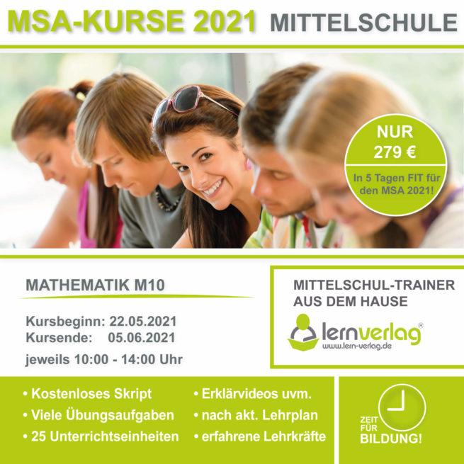 Prüfungsvorbereitung Mittelschule M10 Mathematik 2021
