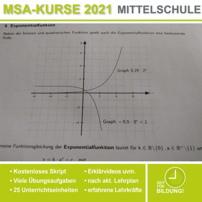 Abschlussprüfung Mittelschule M10 Exponentialfunktionen bei lern.de