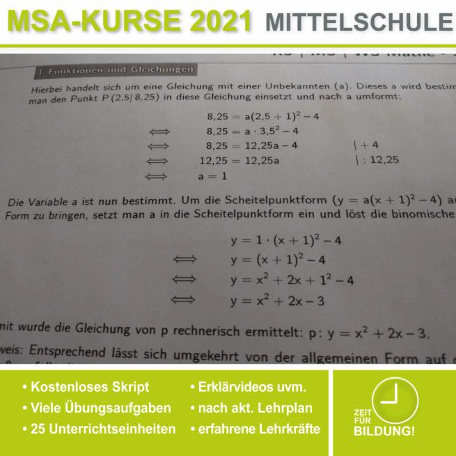 Abschlussprüfung Mittelschule M10 Parabeln bei lern.de