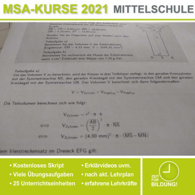 Abschlussprüfung Mittelschule M10 Rotationskörper bei lern.de