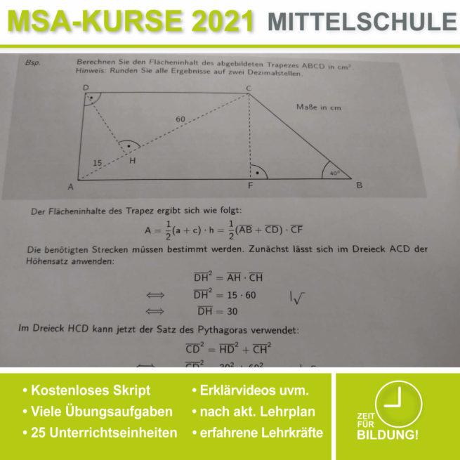 Abschlussprüfung Mittelschule M10 Trigonometrie bei lern.de