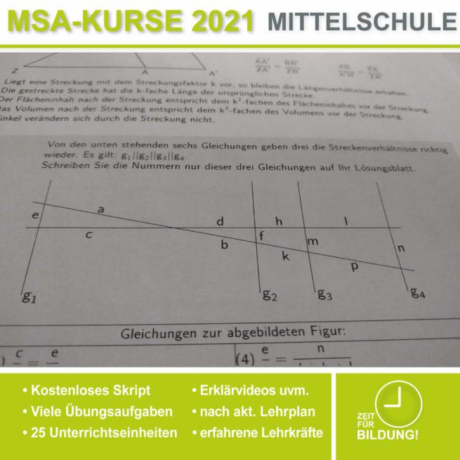 Abschlussprüfung Mittelschule M10 Vierstreckensatz bei lern.de