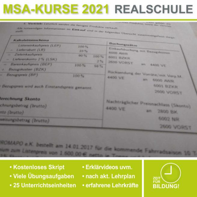 Vorbereitung Abschlussprüfung Realschule BwR Einkaufsbuchung bei lern.de