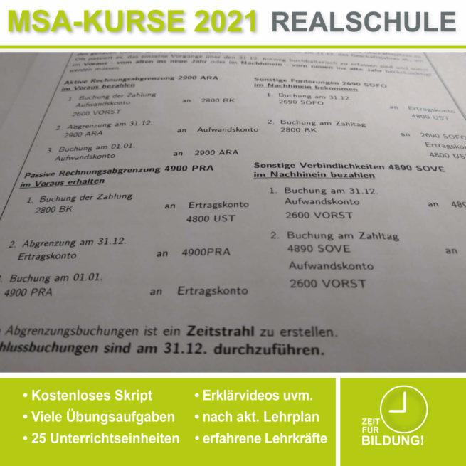 Vorbereitung Abschlussprüfung Realschule BwR periodengerechte Erfolgsermittlung bei lern.de