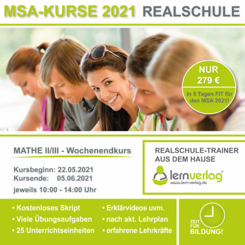 Prüfungsvorbereitung Realschule Mathematik bei lern.de