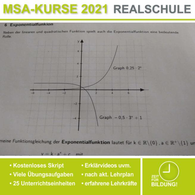 Abschlussprüfung Realschule Exponentialfunktionen bei lern.de