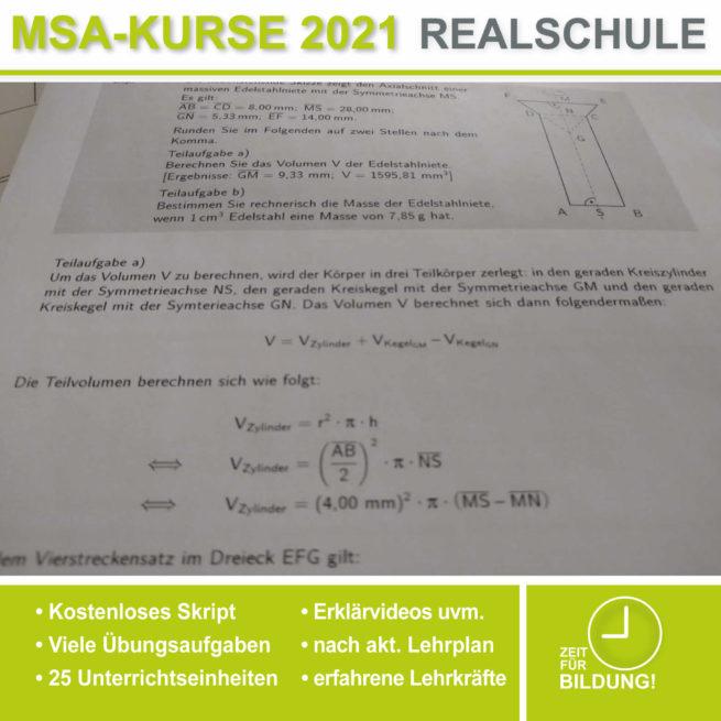 Abschlussprüfung Realschule Rotationskörper bei lern.de