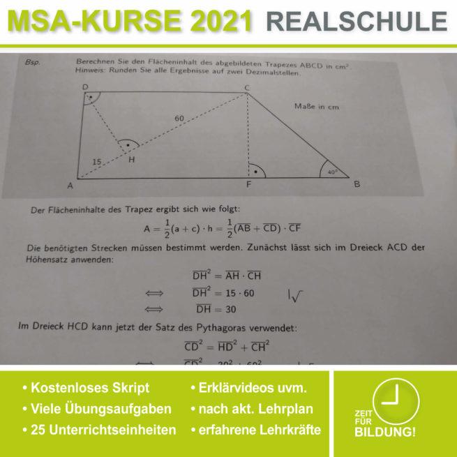 Abschlussprüfung Realschule Trigonometrie bei lern.de