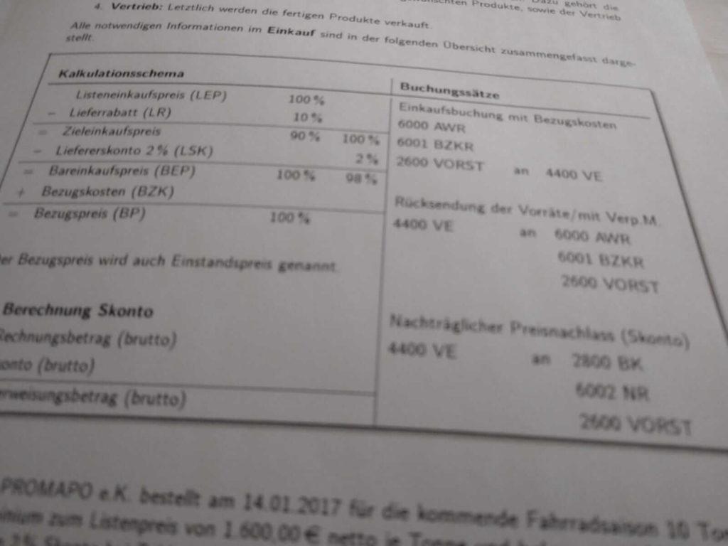 Realschule BwR Einkaufsbuchungen Crashkurs lern.de
