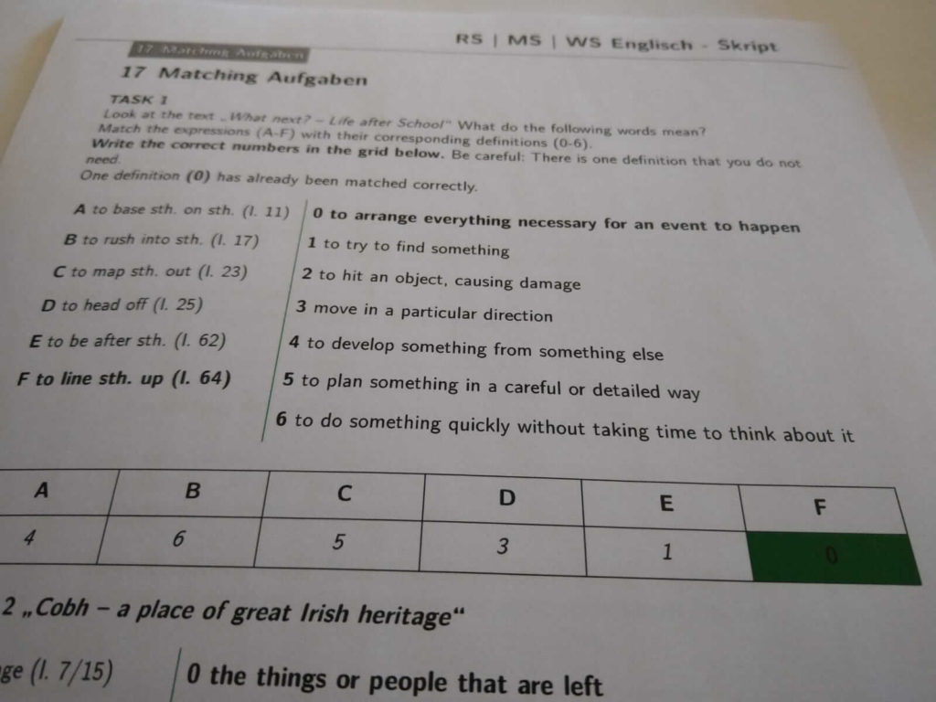 Realschule Englisch Writing Crashkurs lern.de