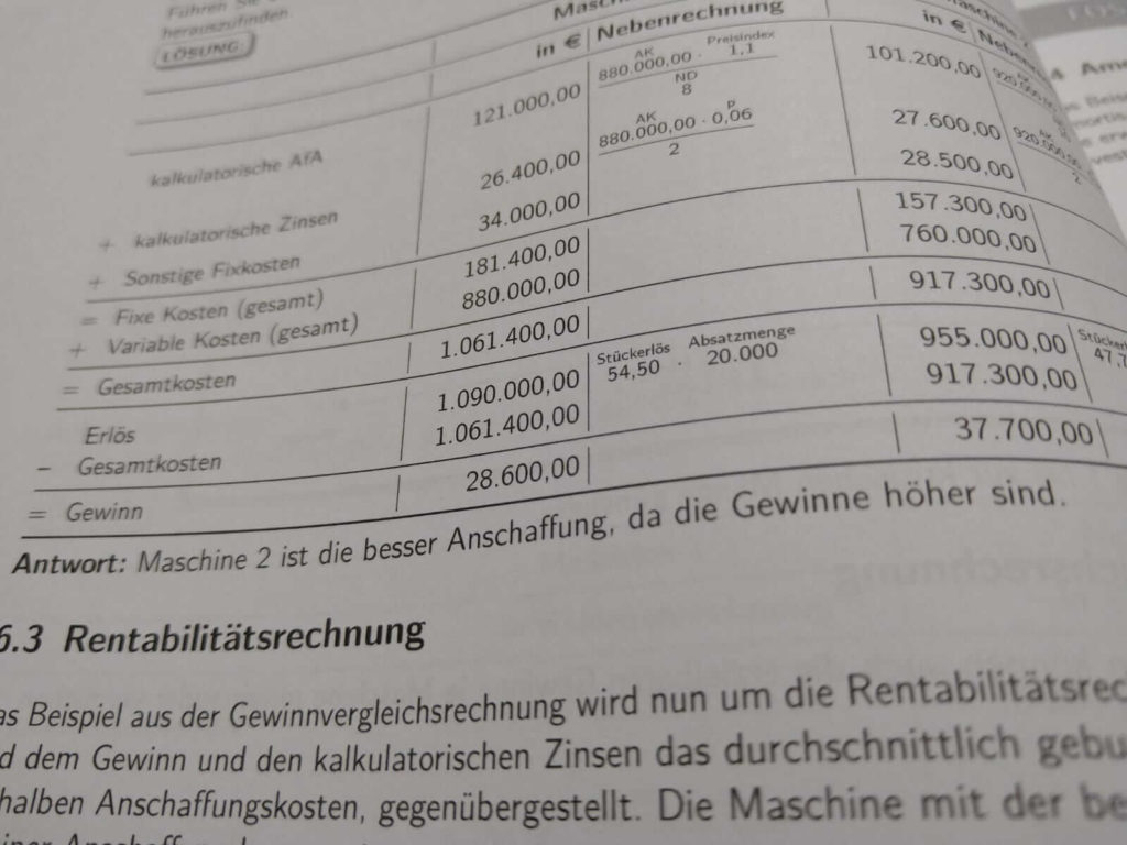 FOS 12 BwR Investitionstheorie