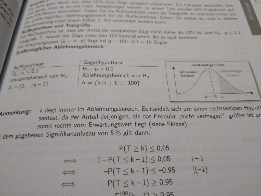 Hypothesentest FOS 12 lern.de