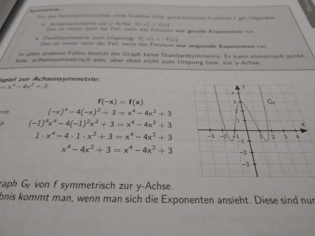 Symmetrieverhalten FOS 12 Mathematik Nichttechnik