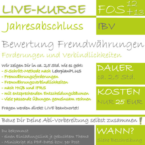 LIVE-EVENT FOS 12 IBV Bewertung Fremdwährungen lern.de GoDigital