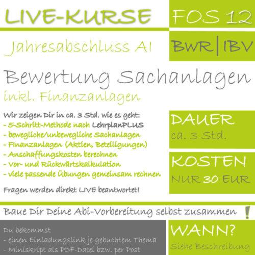 FOS 12 BwR | IBV LIVE-EVENT Bewertung von Sachanlagen und Finanzanlagen lern.de