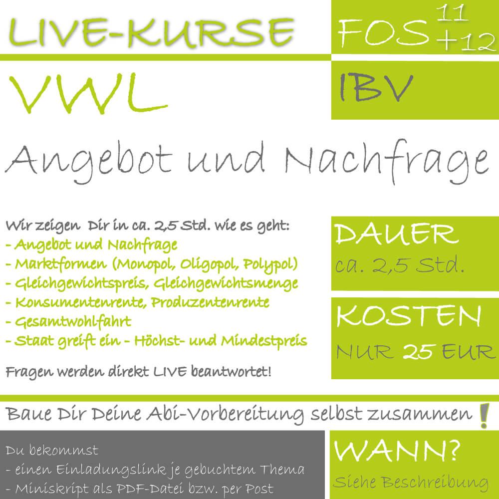 FOS 12 IBV LIVE-EVENT Angebot und Nachfrage lern.de