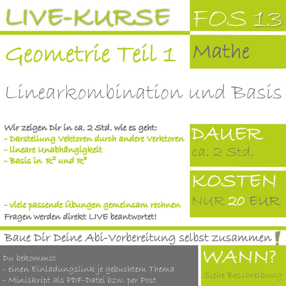 FOS 13 Mathe LIVE-EVENT Analytische Geometrie Teil 1