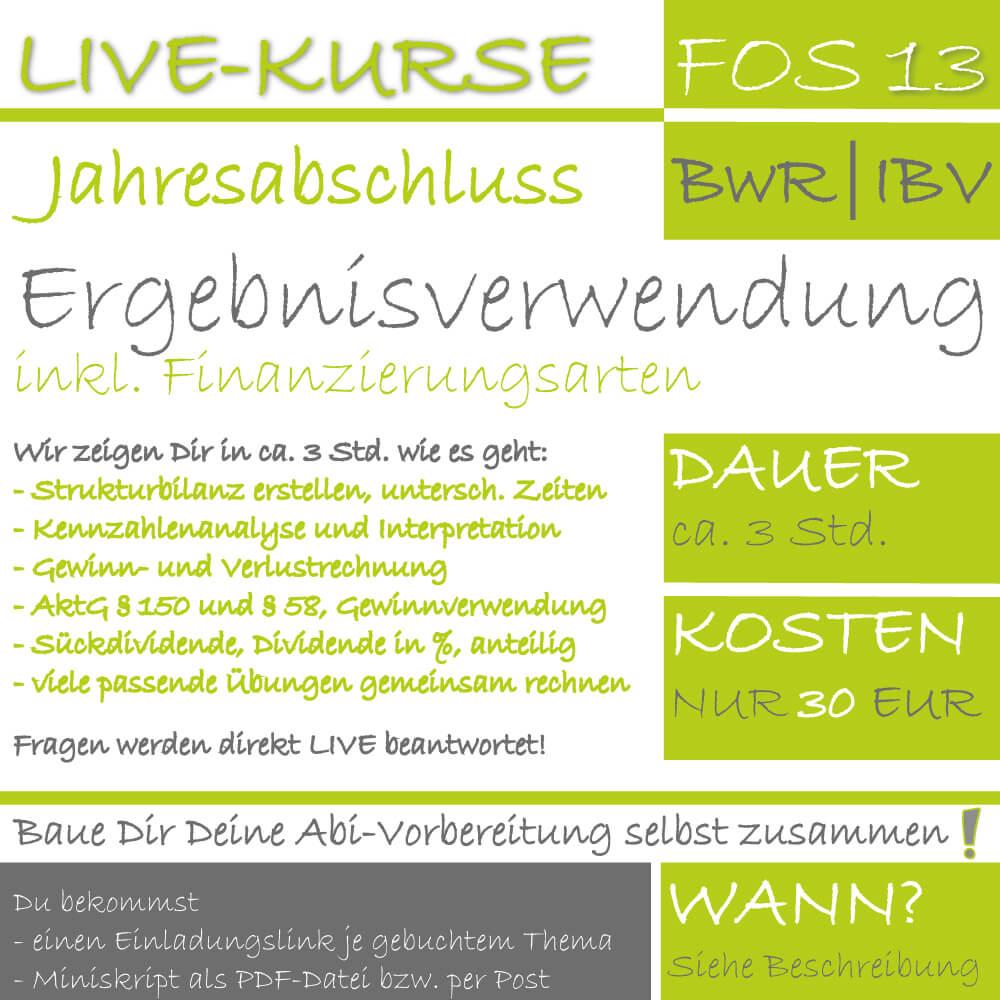 LIVE-EVENT FOS 13 BwR | IBV Ergebnisverwendung lern.de GoDigital