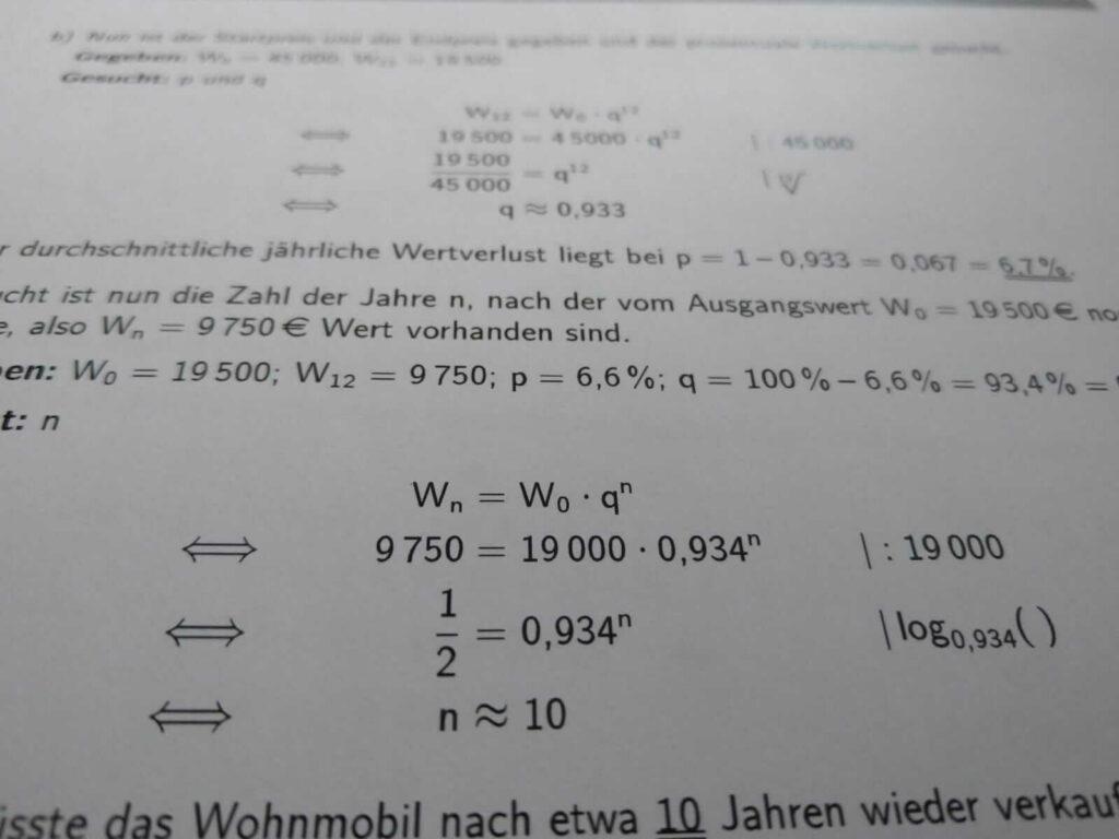 Mittlerer Schulabschluss Exponentialfunktionen lern.de