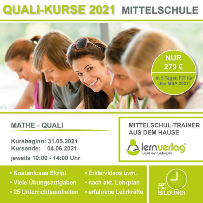 Prüfungsvorbereitung Mittelschule Quali Mathe lern.de