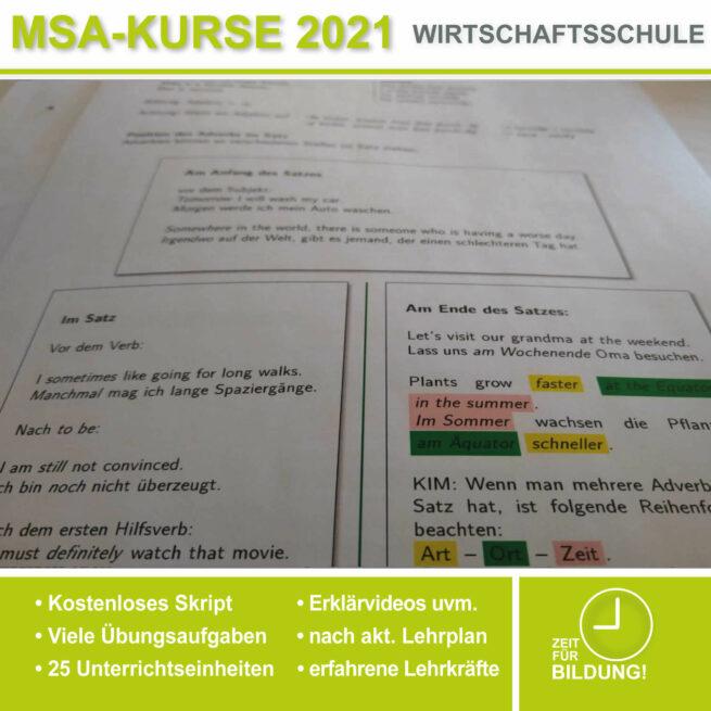 Wirtschschaftsschule Englisch Adverbien lern.de