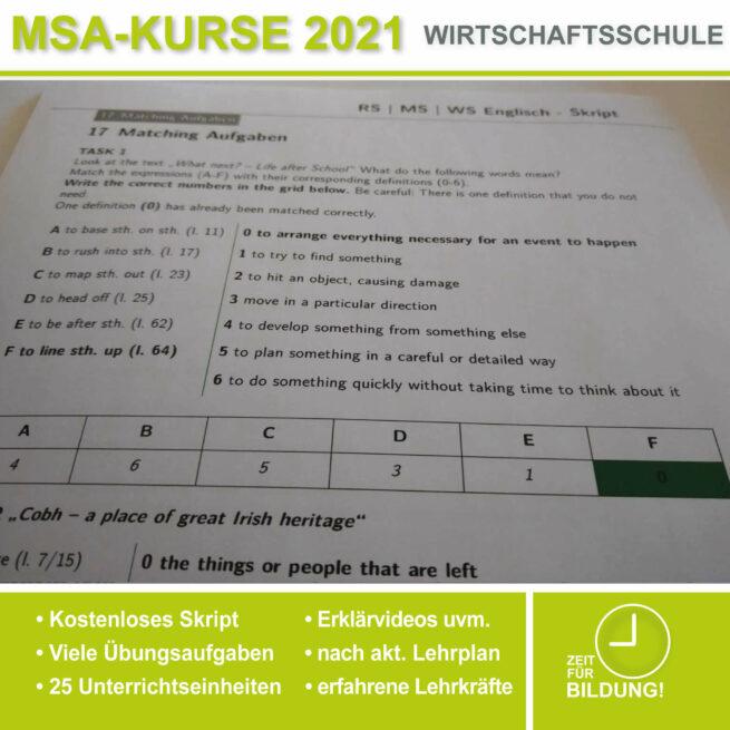 Wirtschschaftsschule Englisch Matching lern.de