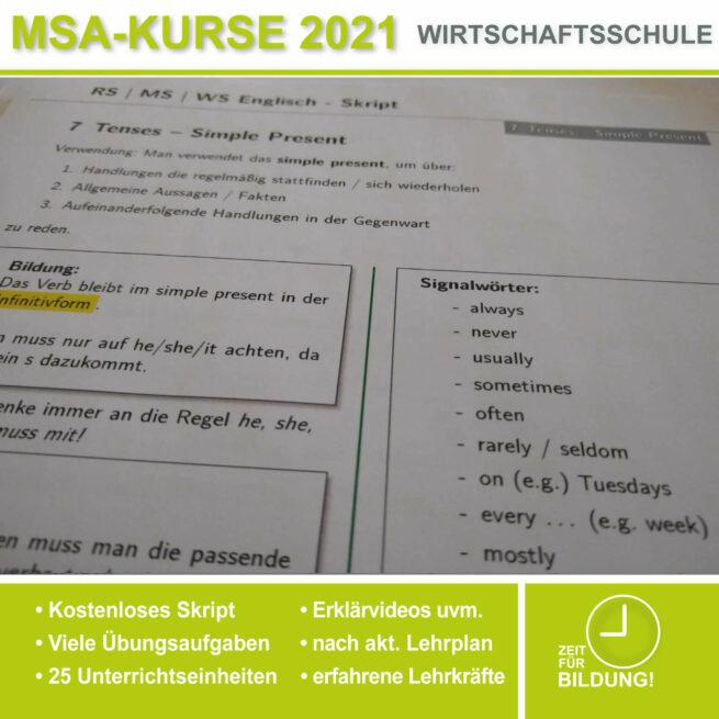 Wirtschschaftsschule Englisch Tenses lern.de