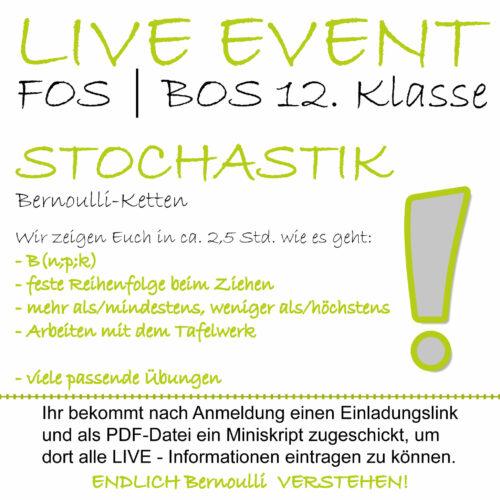 FOS 12 Mathe LIVE-EVENT Bernoulli-Kette lern.de