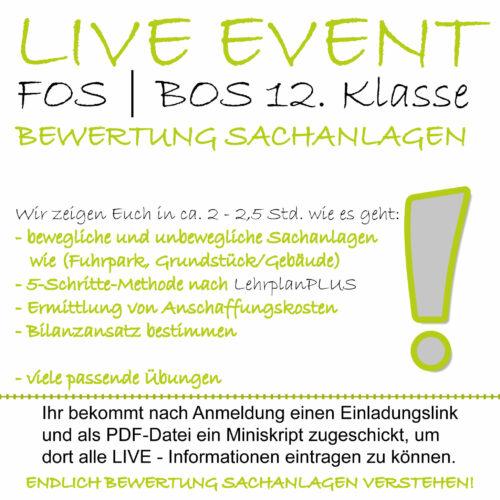 FOS 12 BwR | IBV LIVE-EVENT Bewertung von Sachanlagen lern.de