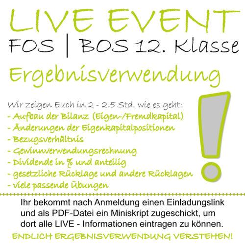 LIVE-EVENT FOS 12 BwR Ergebnisverwendung lern.de GoDigital