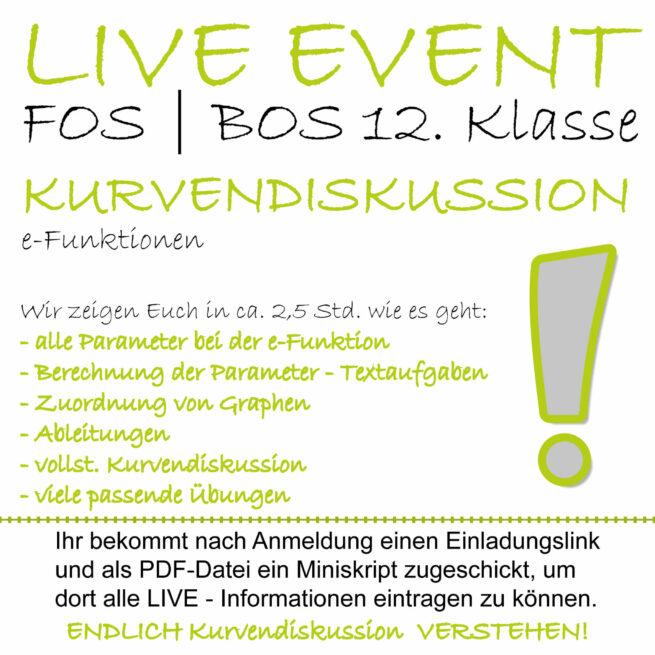 FOS 12 Mathe LIVE-EVENT e-Funktionen lern.de