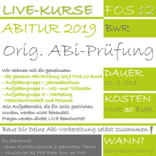FOS 12 BwR ABi 2019 LIVE-KURS