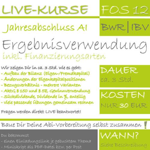 LIVE-KURS FOS 12 BwR Ergebnisverwendung lern.de GoDigital