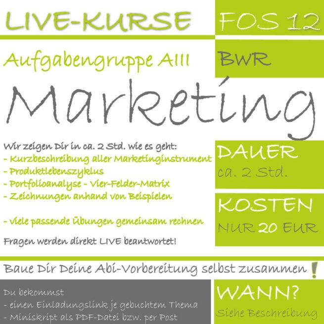 LIVE-KURS FOS 12 BwR Marketing lern.de GoDigital